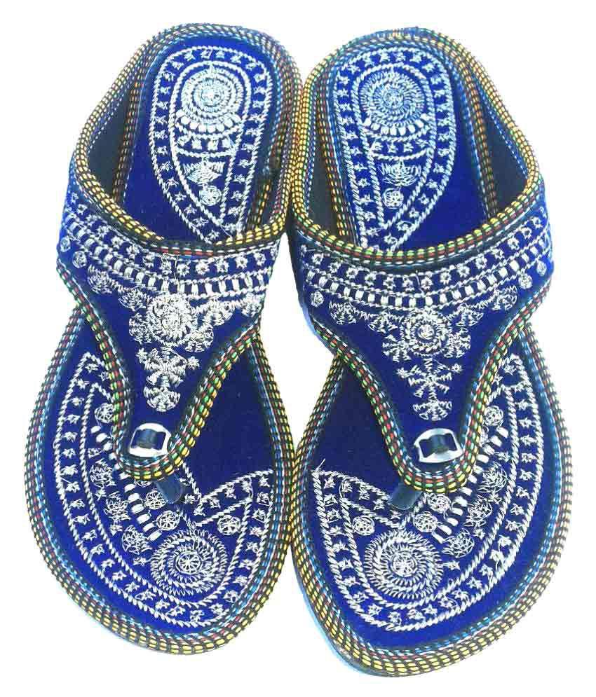 Jaipur Art Bazar Blue Flat Flats