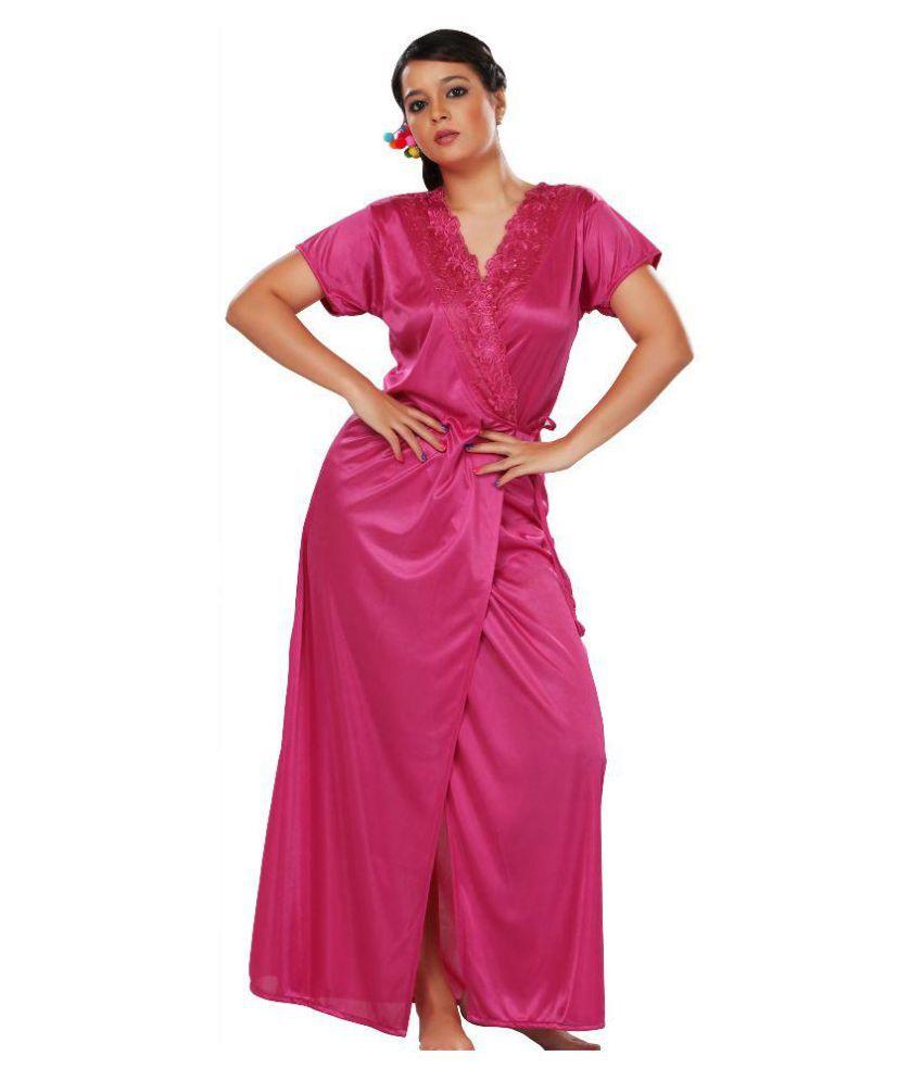 SEK Pink Satin Robes