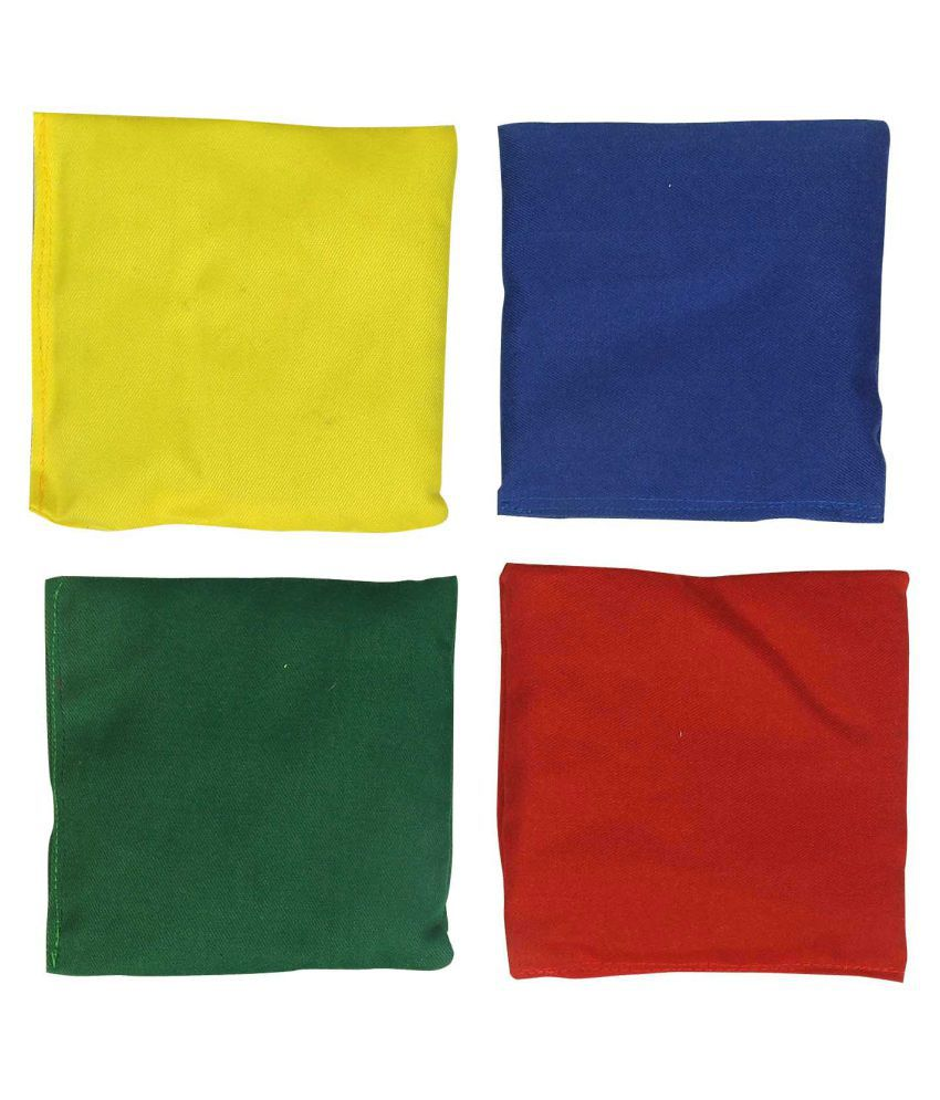 GSI Multicolour Toss Bean Bags   Pack of 4 available at SnapDeal for Rs.255