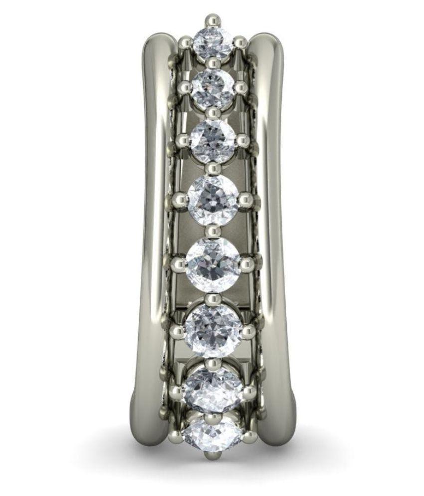 Joyra Silver Huggies Earrings