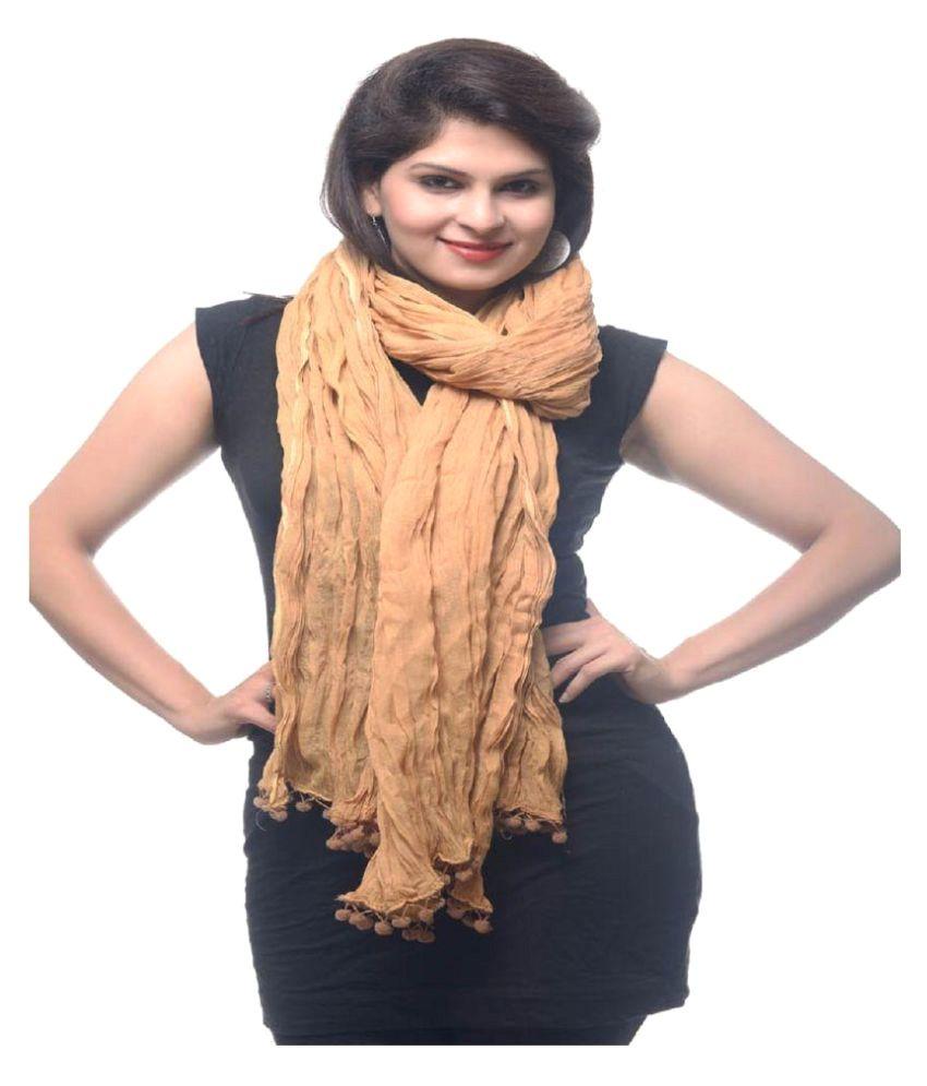 Sarika Fashion Beige Cotton Pom Pom Dupattas