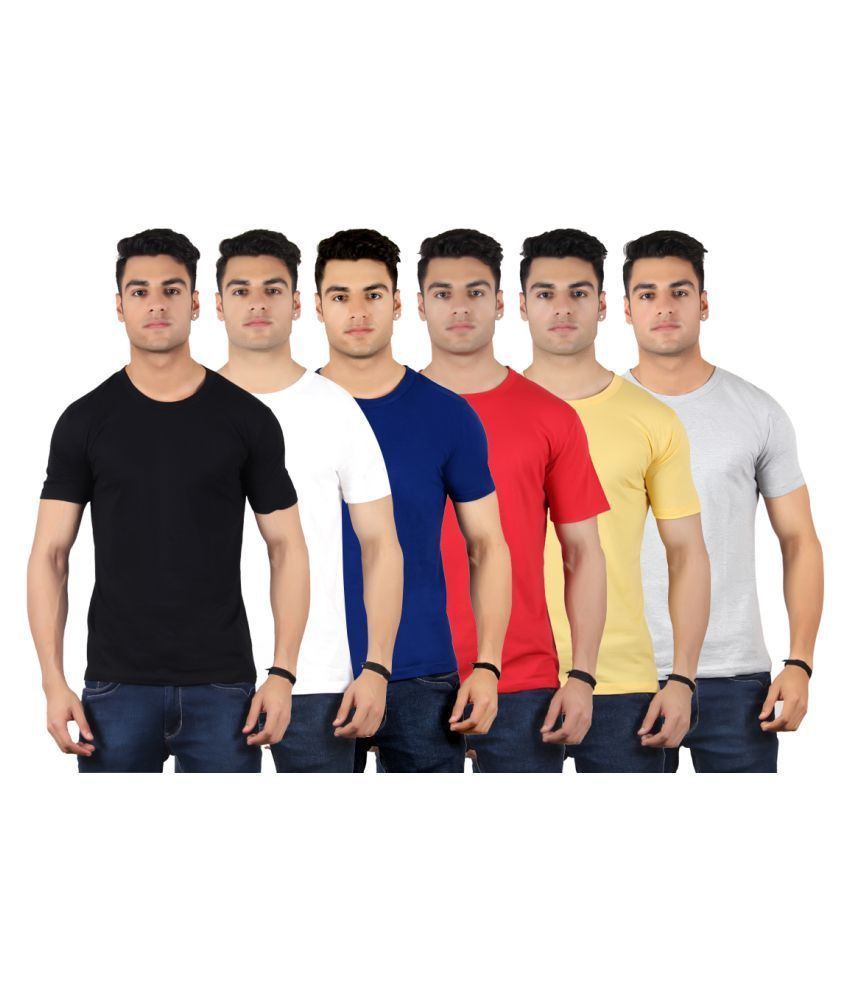 Diaz Multi Round T-Shirt Pack of 6