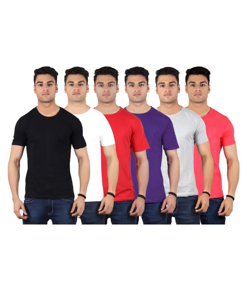 Diaz Multi Round T-Shirt Pack of 6