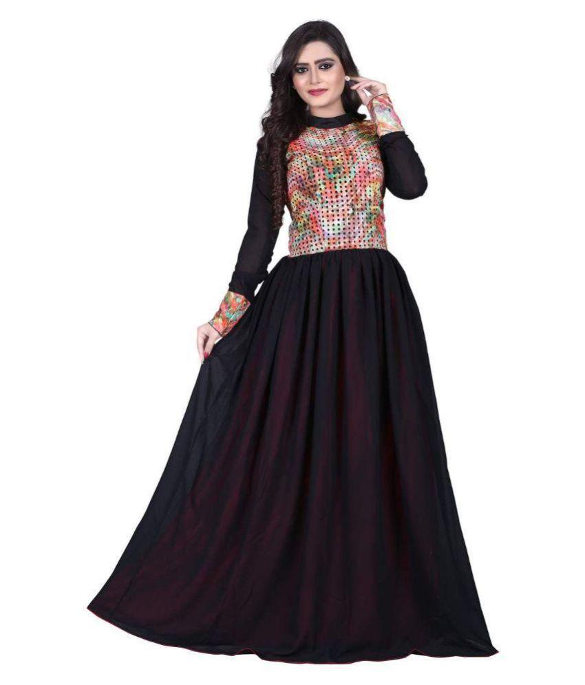 Kisha Choli Collection Black Georgette Gown