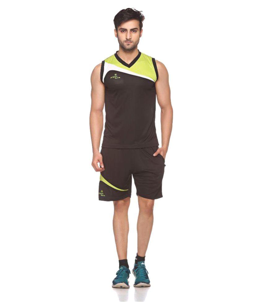 Sport Sun Sportswear Green Cutssleeves VolleyBall Set
