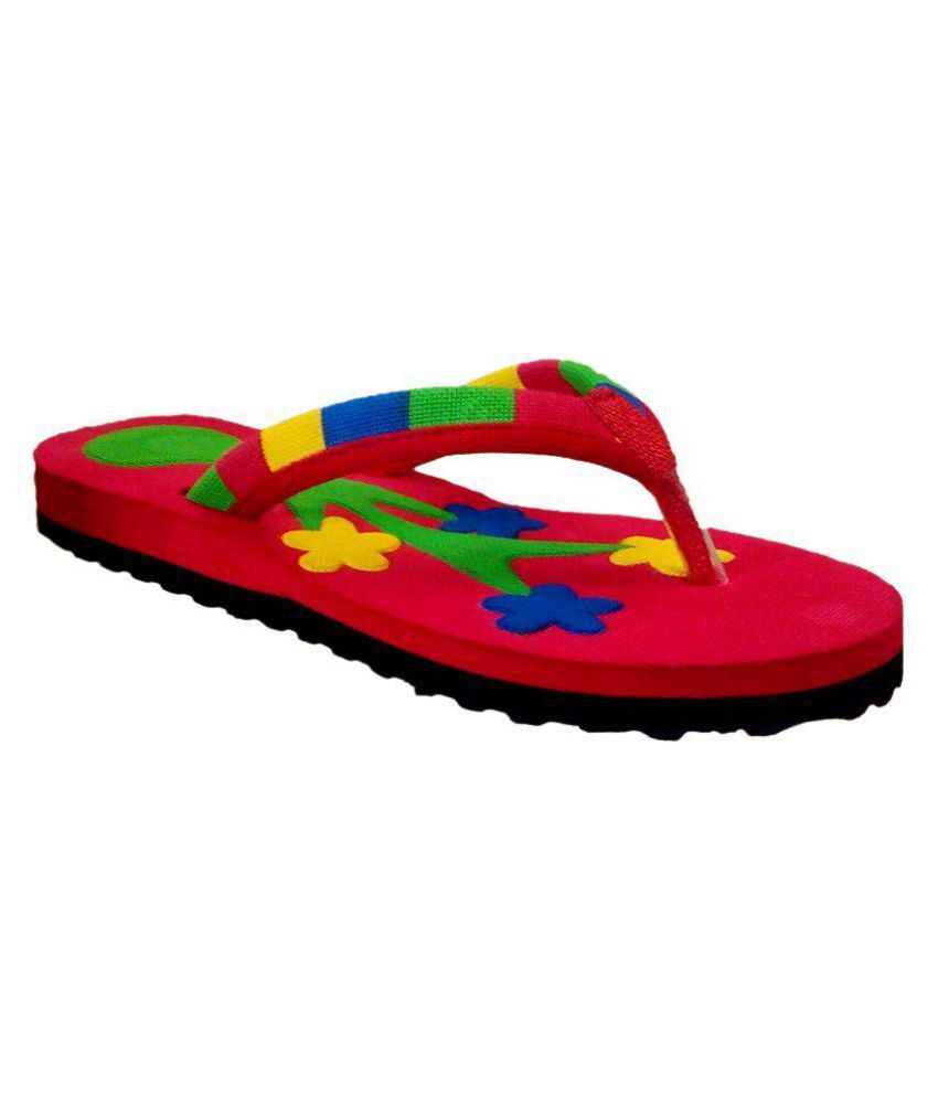 Pollo Red Slippers