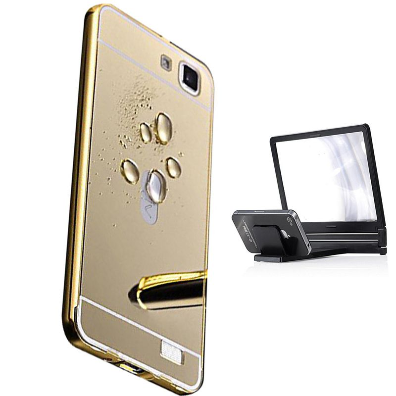 Mirror Back Cover For Vivo V1 + 3d magnifier mobile holder free by Style Crome.