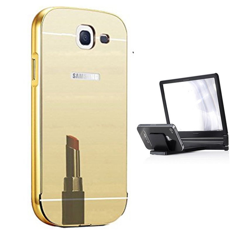 Mirror Back Cover For Samsung Galaxy J5 (2016) + 3d magnifier mobile holder free by Style Crome.