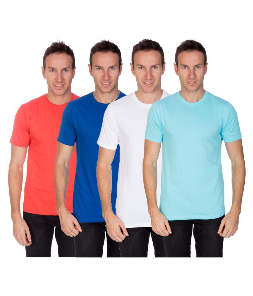 Artist Multi Round T-Shirt Pack of 4