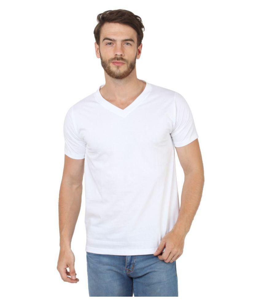 Say It Loud White V-Neck T-Shirt