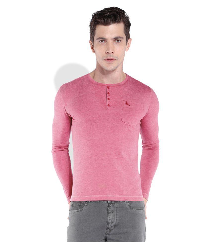 Parx Pink Henley T-Shirt