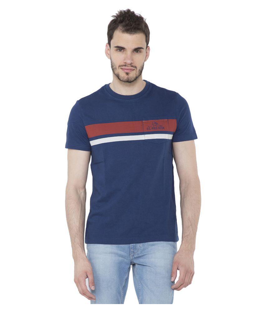 U.S. Polo Assn. Blue Round T-Shirt