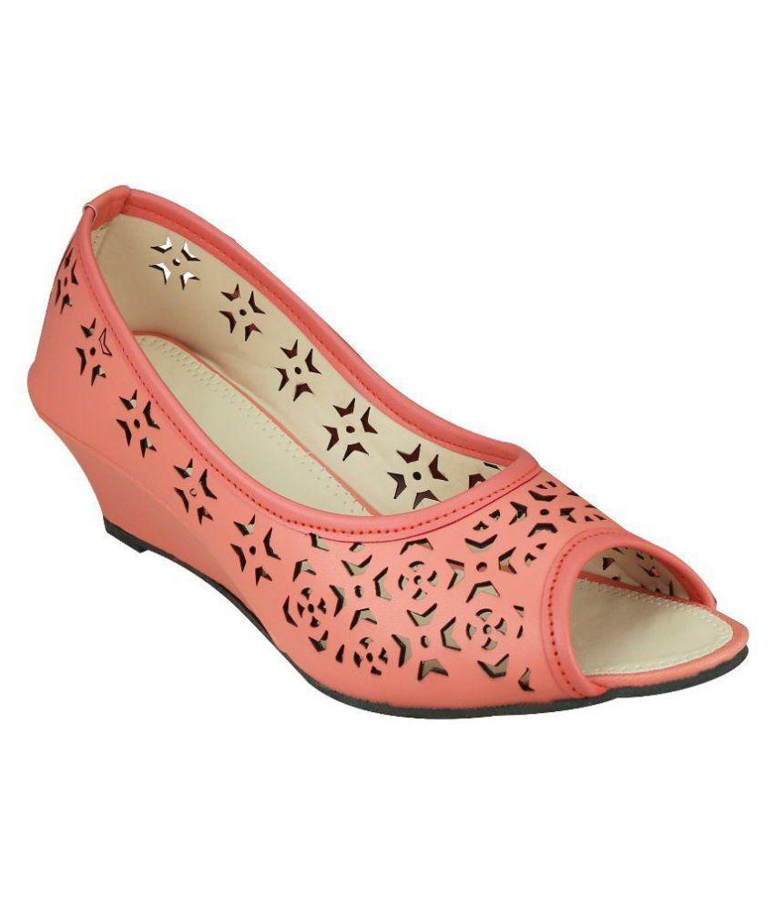 Smart Traders Orange Wedges Heels