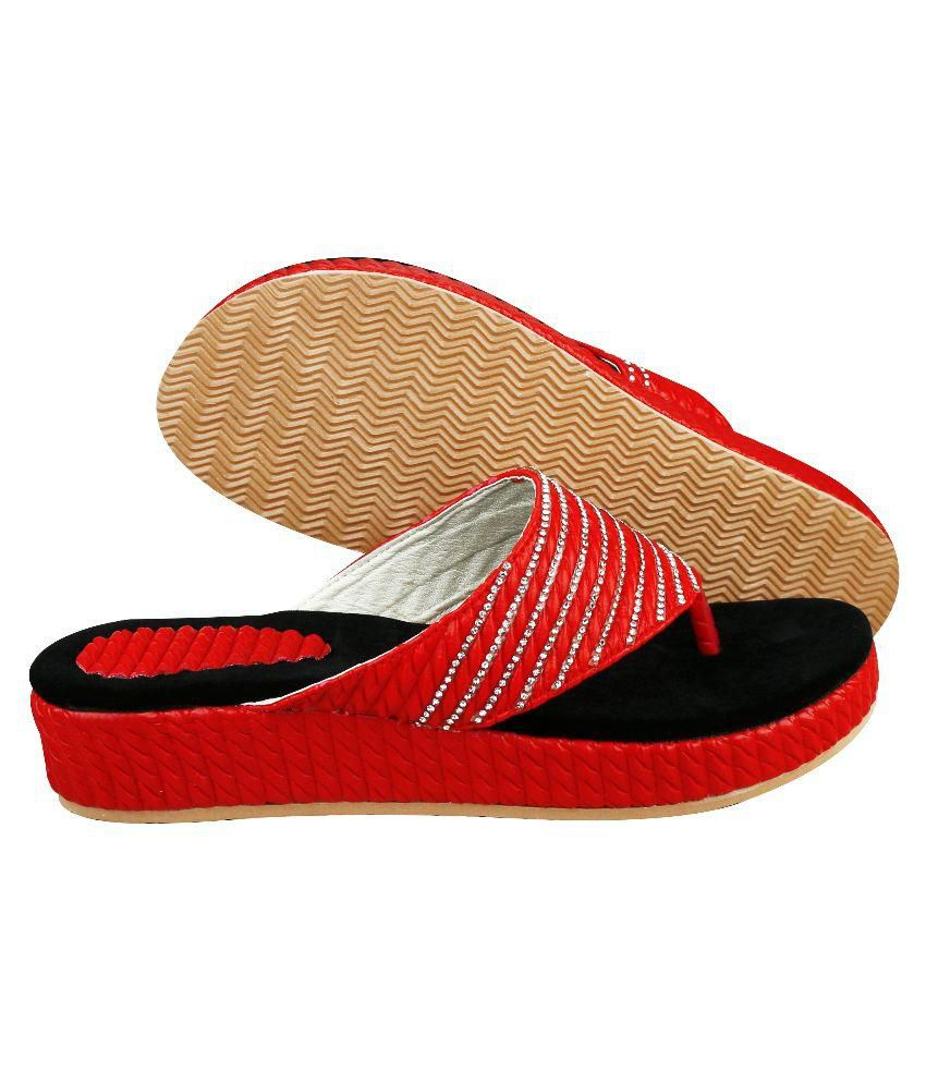 Smart Traders Red Slippers