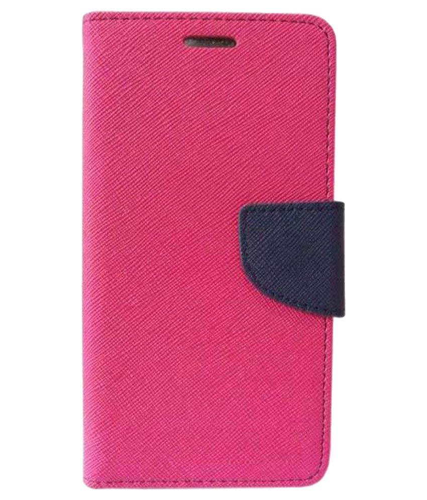 Gionee Pioneer P4 Flip Cover by Zocardo - Pink