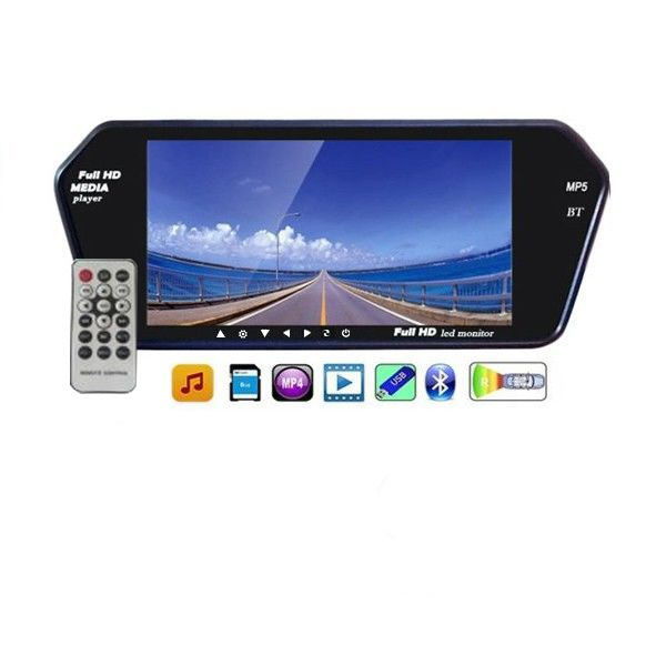 Snapdeal: Speedwav Single Din Full HD Rear View Mirror Screen,Bluetooth,USB,SD Card @ Rs.2,099/- (72% OFF)