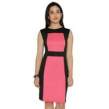 Chimpaaanzee Pink Polyester Dresses