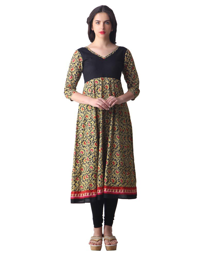 749809a0a Libas Black Printed Kurta - Buy Libas Black Printed Kurta Online at Best  Prices in India on Snapdeal