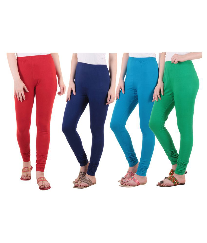 Diaz Cotton Lycra Pack of 4 Leggings