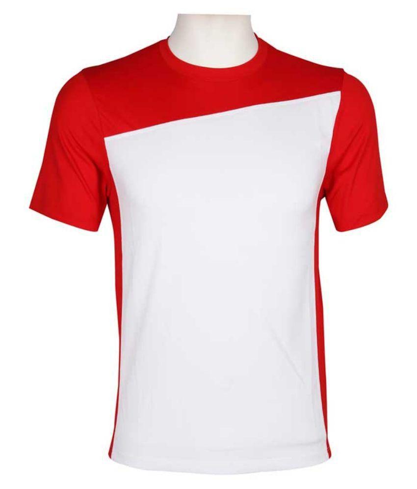 Wilson White Polyester T-Shirt
