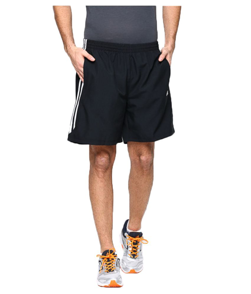 Adidas Black Polyster Shorts for Men