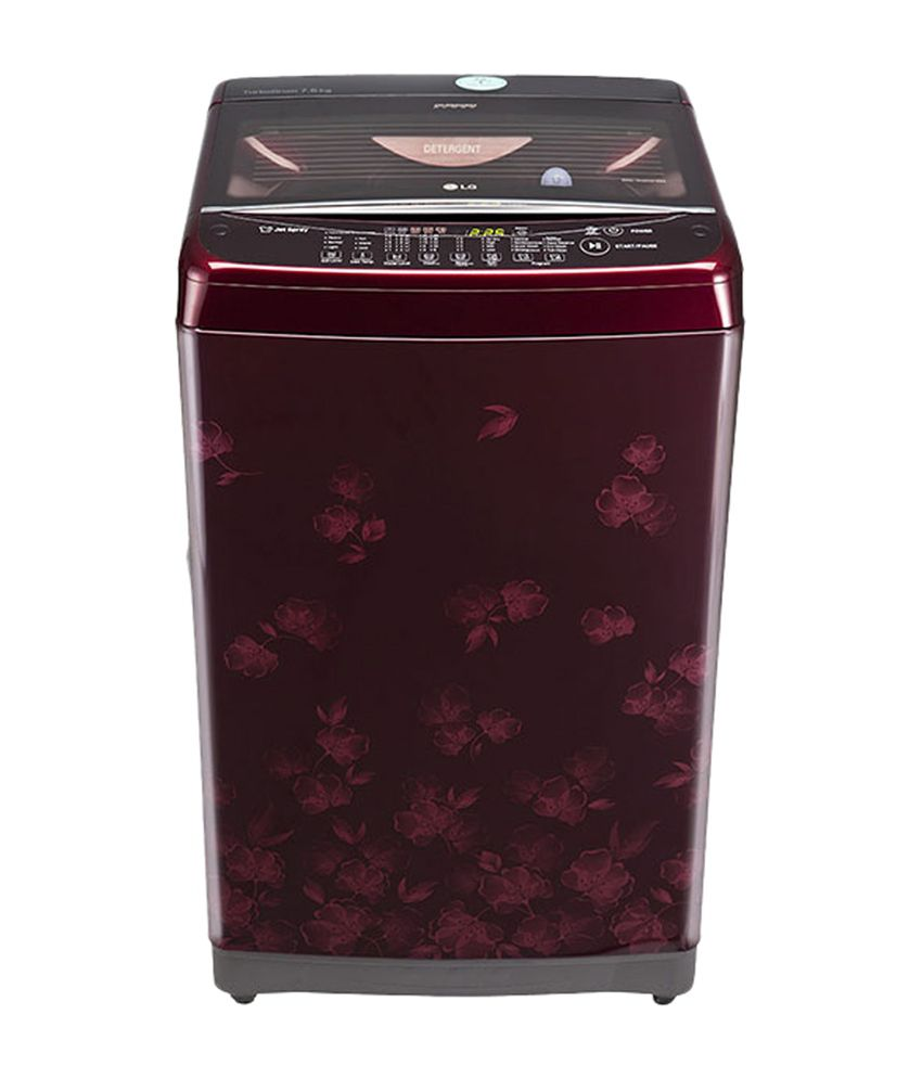 LG 7.5 T8577TEELY Fully Automatic Top Load Washing Machine Silver & Burgandy