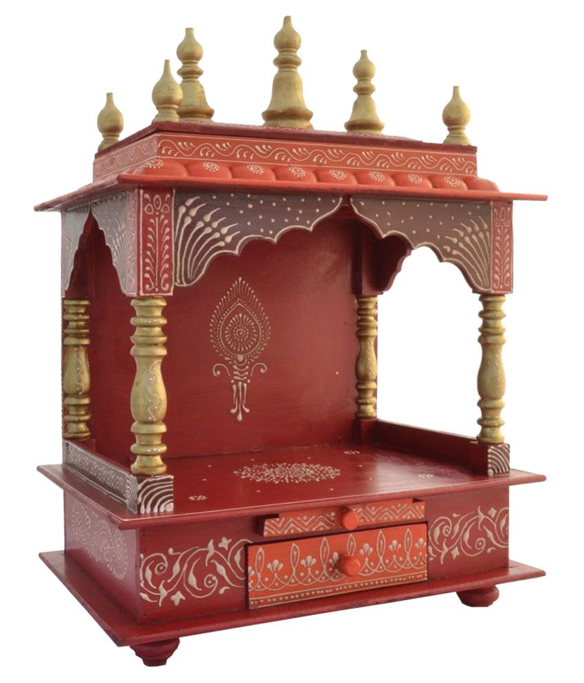 Homecrafts wooden pooja mandir pooja temple buy for Home mandir designs marble