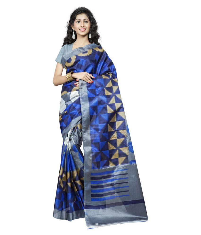 Urban Naari Blue Bhagalpuri Silk Saree