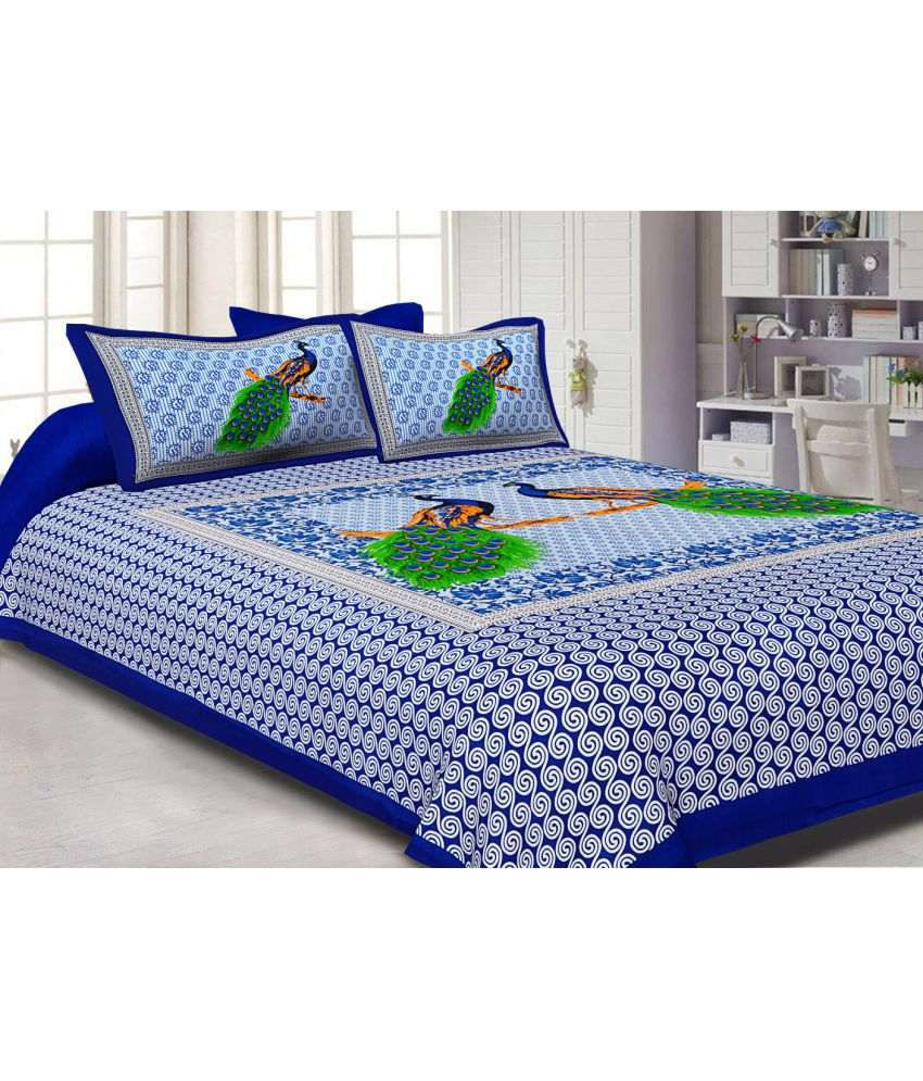 e46bf4a53b Jaipuri Double Cotton 3D Print Bed Sheet - Buy Jaipuri Double Cotton 3D  Print Bed Sheet Online at Low Price in India - Snapdeal.com