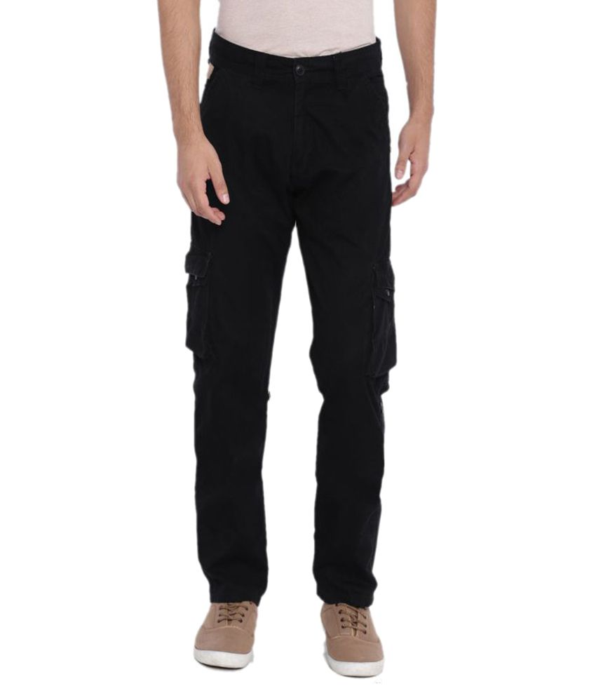 Sports 52 Wear Black Regular Flat Trouser