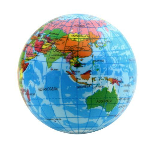 Dpower world map foam earth globe stress relief bouncy ball atlas dpower world map foam earth globe stress relief bouncy ball atlas geography toy 236 inch gumiabroncs Images