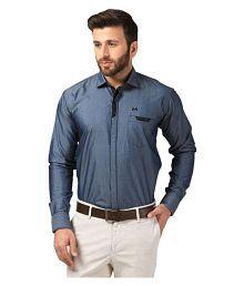 Mesh Grey Casuals Regular Fit Shirt