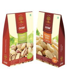 OOSH OOSH Roasted Salted Pista & Cashew Salted Pistachio Nut (Pista) Roasted & Salted 500 Gm Pack Of 2