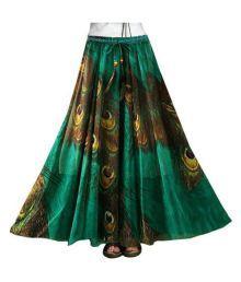 Saiyaji Suits Multi Color Satin A-Line Skirt