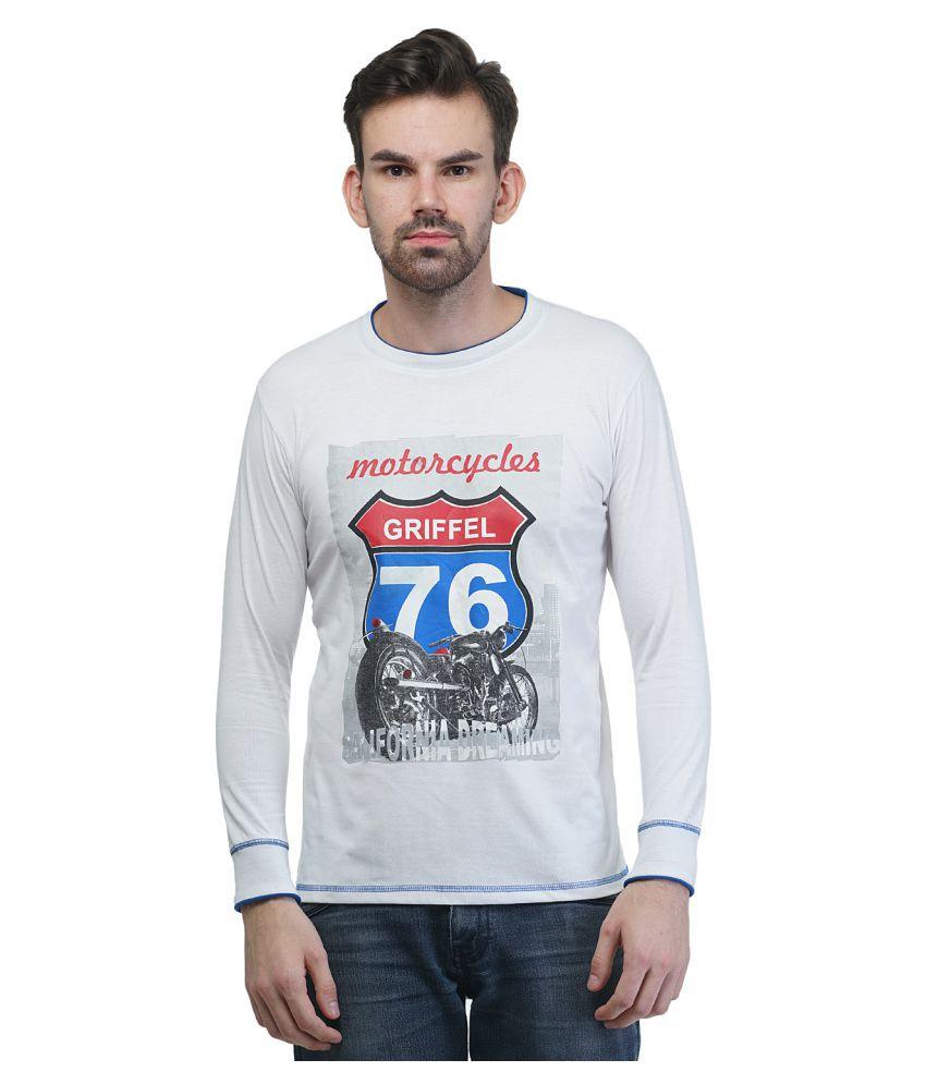 Griffel White Round T-Shirt