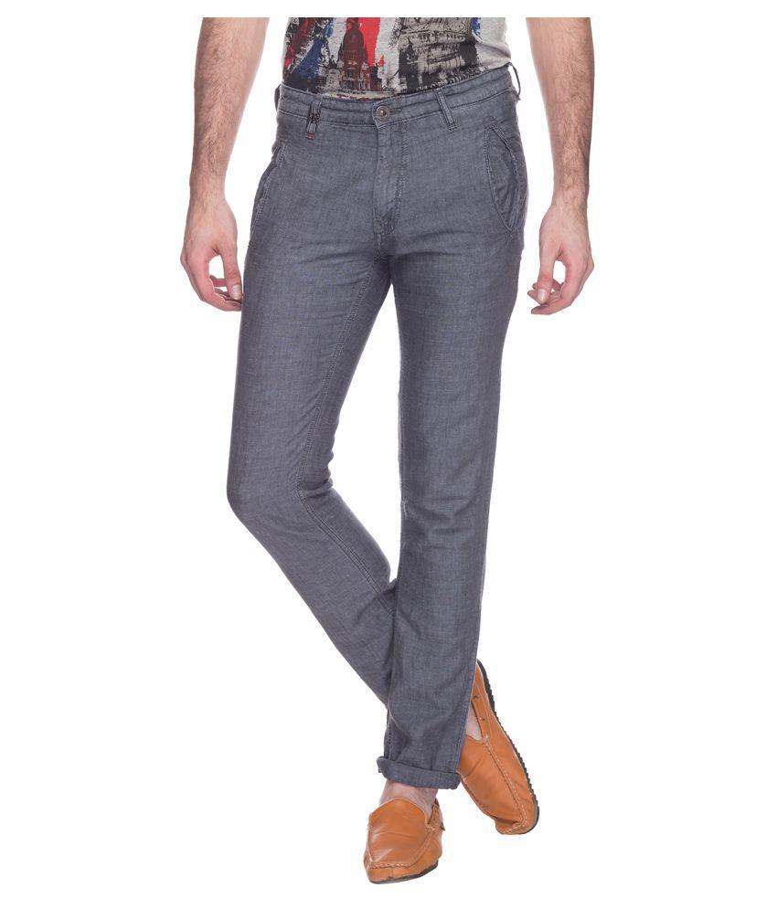 Raymond Grey Regular Fit Solid