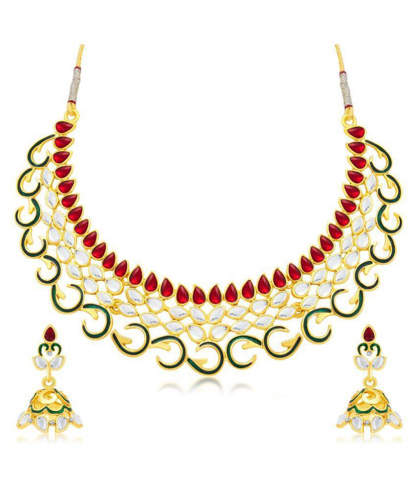 Sukkhi Gold Plated Necklace Set