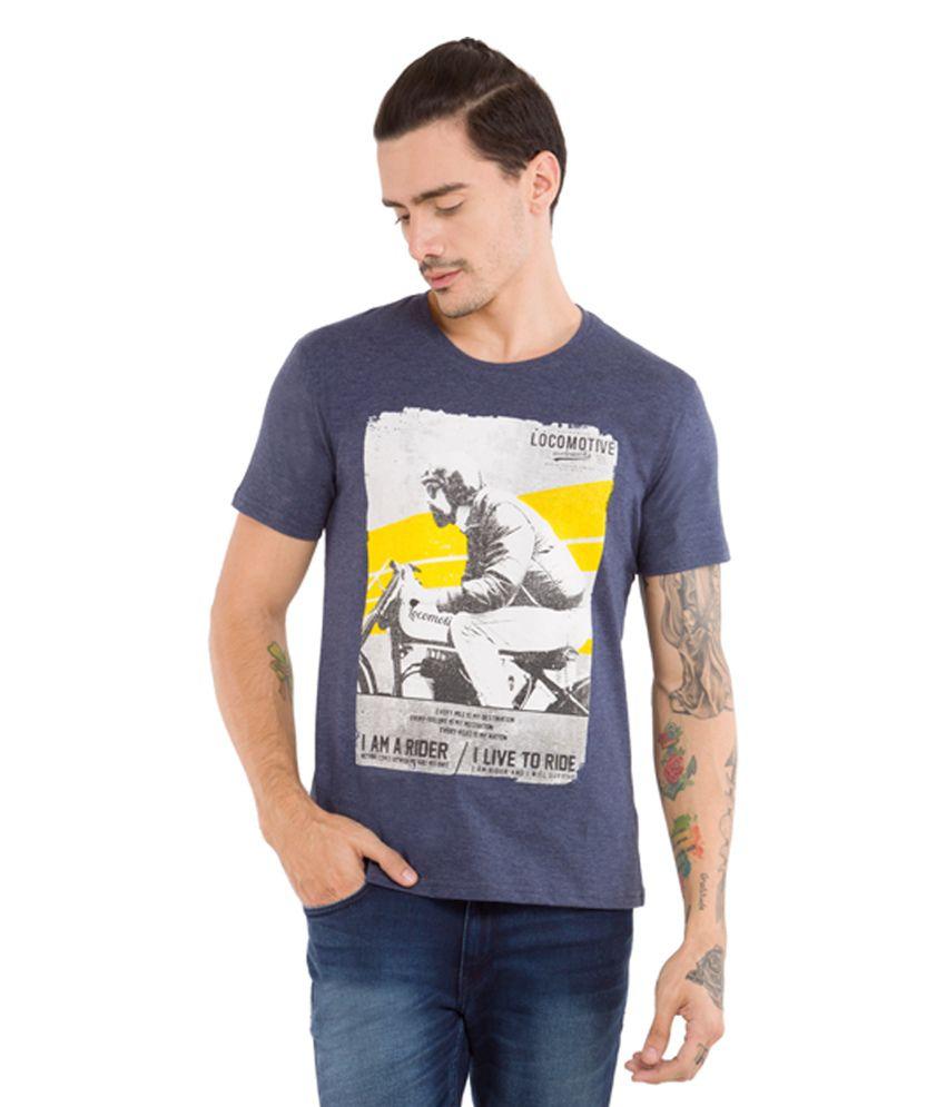 Locomotive Grey Round T-Shirt