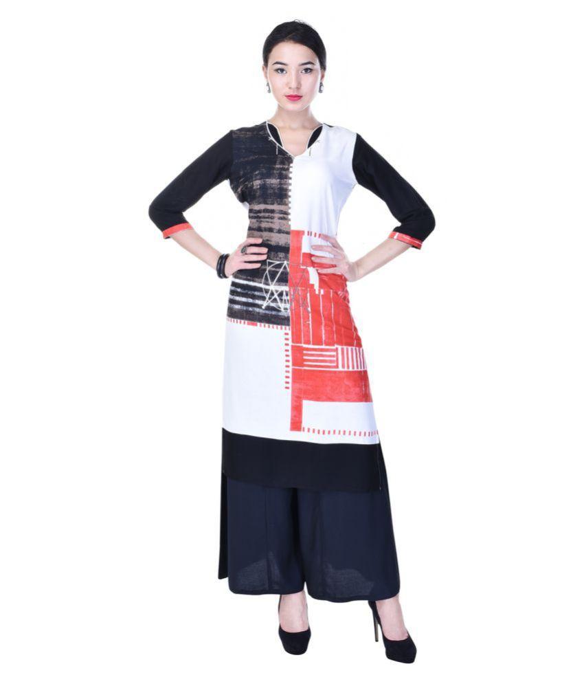 Heritage Jaipur Multicoloured Rayon Straight Stitched Suit
