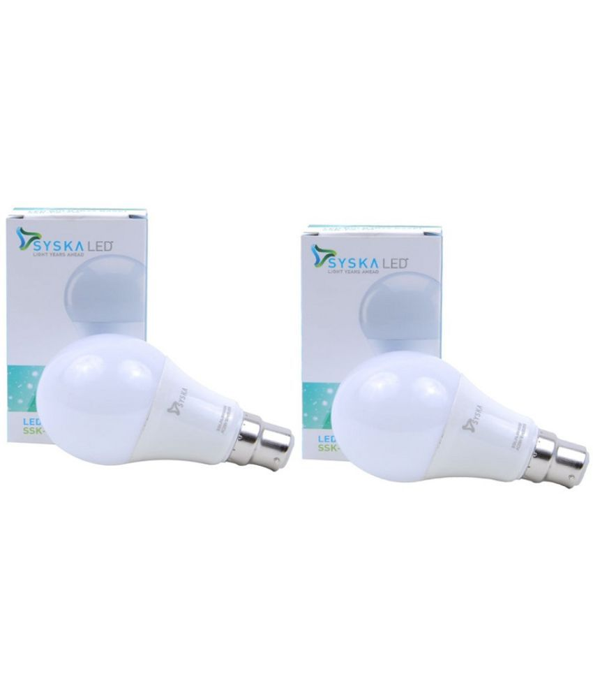 Syska 9W Pack of 2 LED Bulb