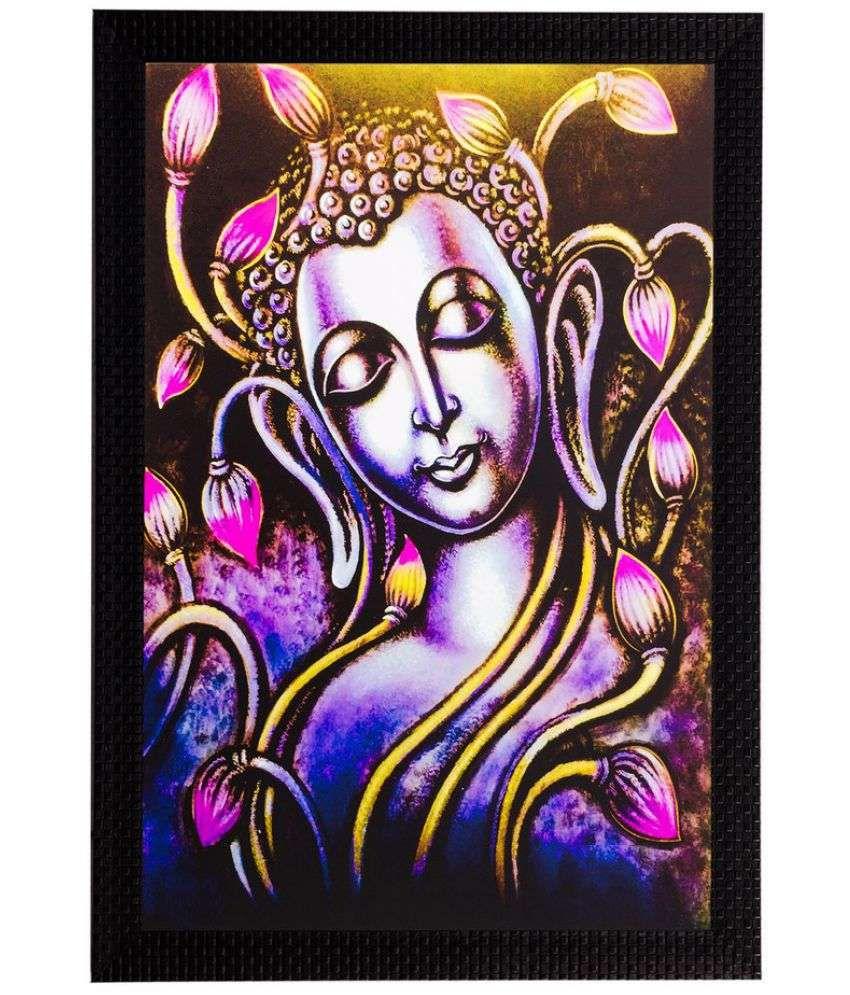 eCraftIndia Wood Art Prints With Frame Single Piece