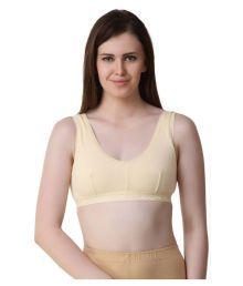 London Queen Beige Cotton Lycra T-Shirt/ Seamless Bra