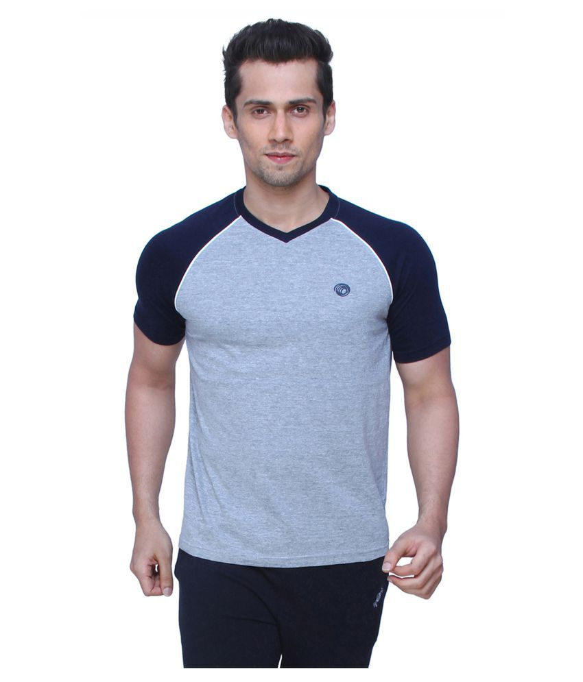 Spunk By Fbb Grey V-Neck T-Shirt