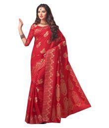 Ishin Red Silk Saree