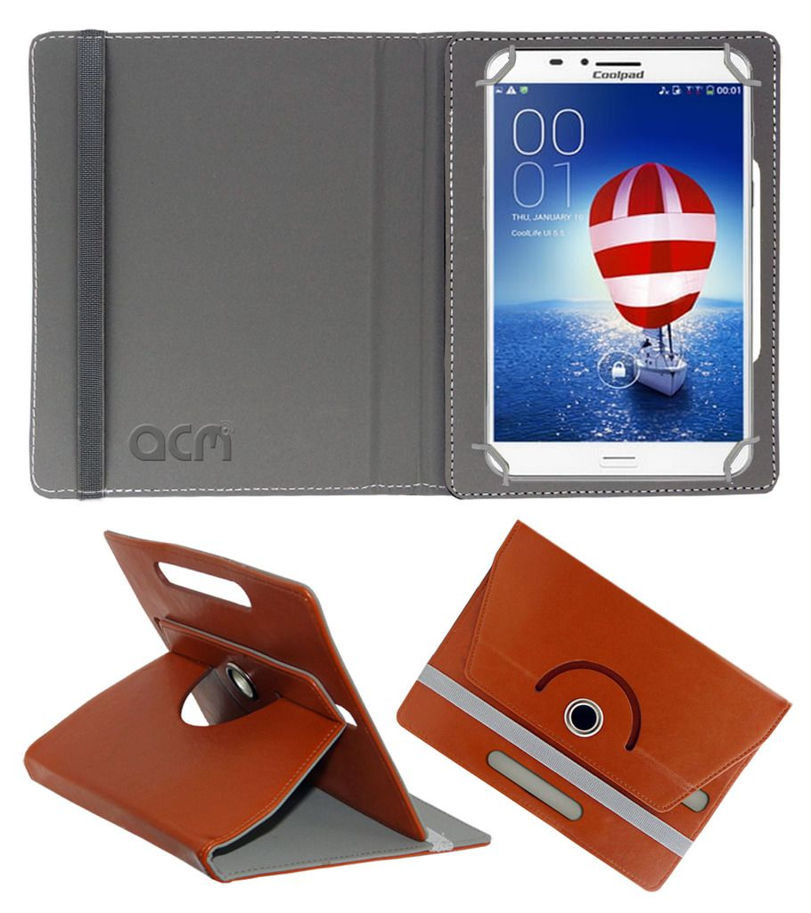 Spice Coolpad Halo Rotating Flip Case By ACM Brown