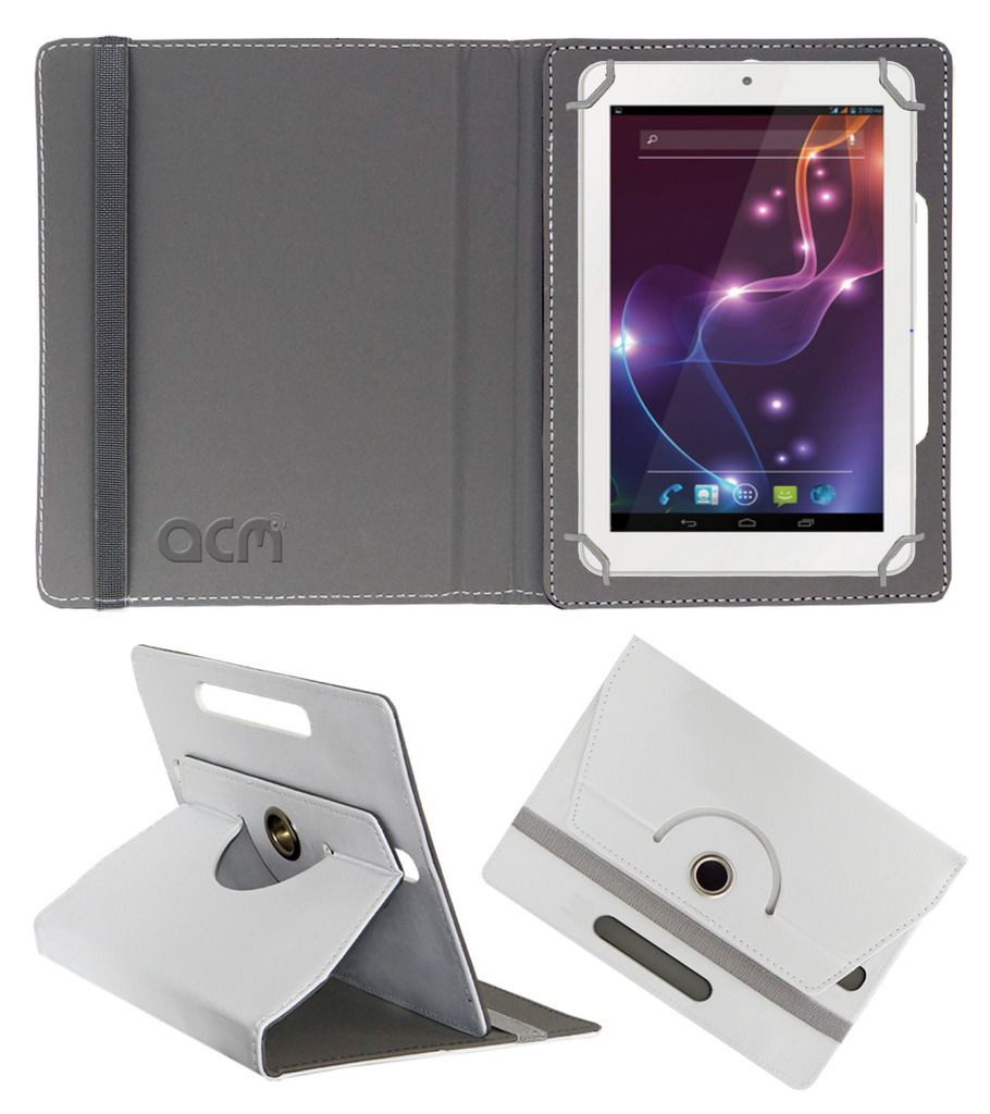 Lava Xtron Z704 Flip Cover By ACM White