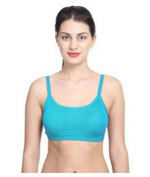 Bahucharaji Creation Blue Cotton Lycra Cami Bra - 633939042589
