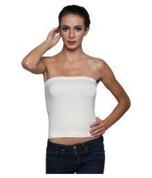 Bahucharaji Creation White Cotton Lycra T-Shirt/ Seamless Bra