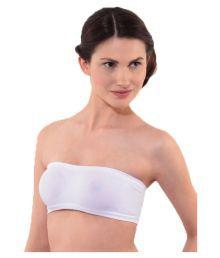 Dealseven Fashion White Cotton Lycra T-Shirt/ Seamless Bra - 643714372542