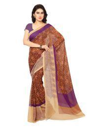 Fab Market Brown Bhagalpuri Silk Saree